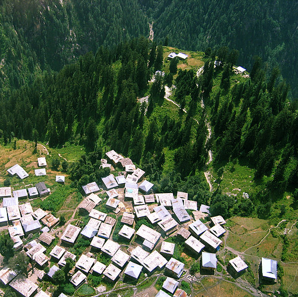Malana ancient Indian village in the state of Himachal Pradesh