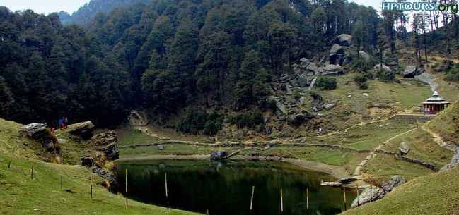 Serolsar lake and temple,Kullu, Himachal Pradesh